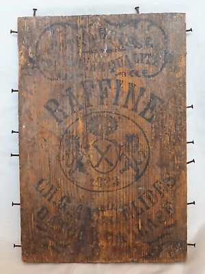 Antique 1883 Ottoman Rare Old Wood Piece Box Constantinople Board Stamps