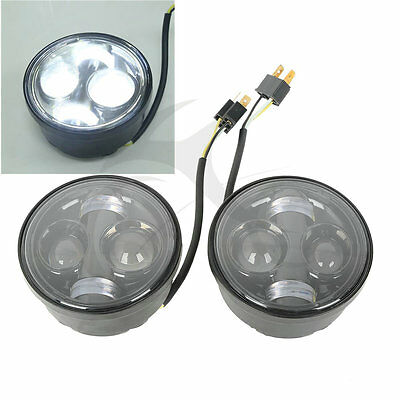Daymaker Projector Headlight LED Lamps For Harley Dyna Fat Bob FXDF 08-16