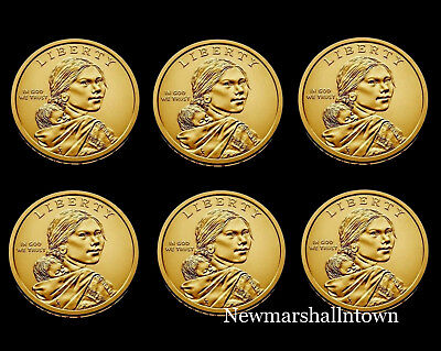 2016 2017 2018 P+D Native American Sacagawea Business Strike from US Mint Roll