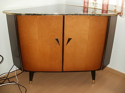 vintage anrichte sideboard kommode beistell schrank 50er retro nierentisch ra eur 30 50. Black Bedroom Furniture Sets. Home Design Ideas