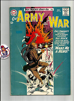 Our Army at War #136 DC Comic Book 1963 Sgt. Rock Classic War Kubert (VG/FN 5.0)
