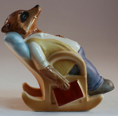 RINGTALE RACCOONS Papa Sleeping in Chair Figurine VTG 1981 Goebel