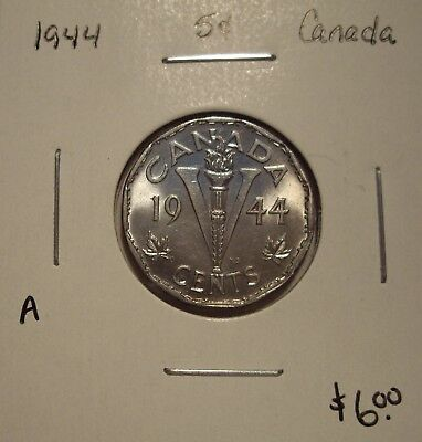 A Canada George VI 1944 Five Cents