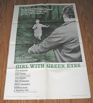 Girl With Green Eyes 1964 Original  Poster  Finch