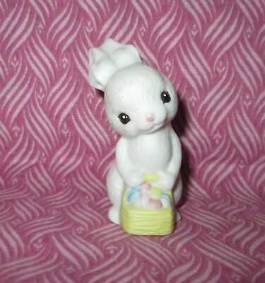 HALLMARK Merry Miniature 1982 Ceramic Bunny w/Basket Easter