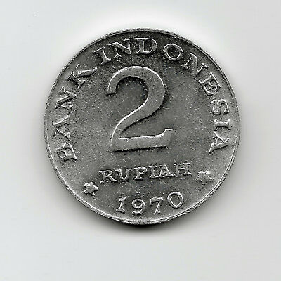 World Coins - Indonesia 2 Rupiah 1970 Coin KM# 21 ; UNC