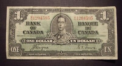 Canada 1937 BC-21d $1.00 Note M/N1294595