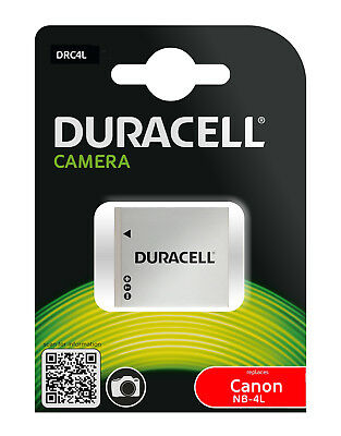 Genuine DRC4L Duracell Battery for Battery Part Number Canon NB-4L