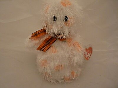 2005 Ty Punkies Beanie Babies - SCREAMERS Shaggy Ghost w/Tags (8 inch)