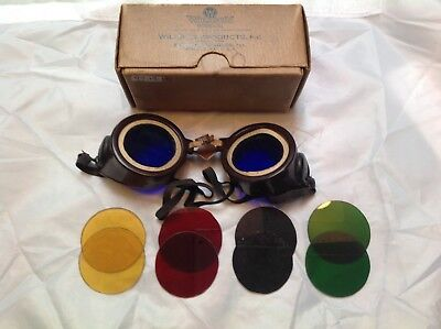 vintage Wilson's goggles Patent 1918 multi colored lens goggles Reading, PA.