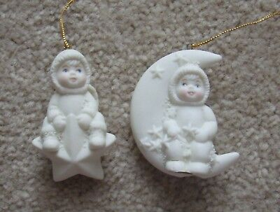 holiday snowbabies impression ploar pals star moon space ornaments decorations