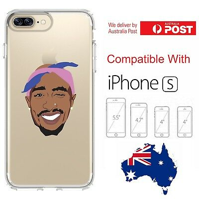 iPhone Silicone Cover Case Tupac Shakur Rap Hip-Hop Music Art Hot - Customlads