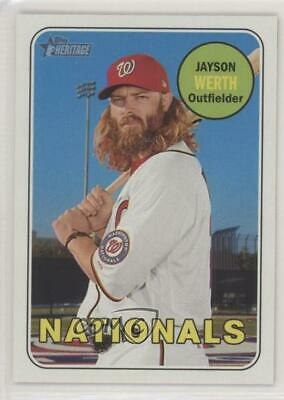 2018 Topps Heritage #448 High Number SP Jayson Werth Washington Nationals Card