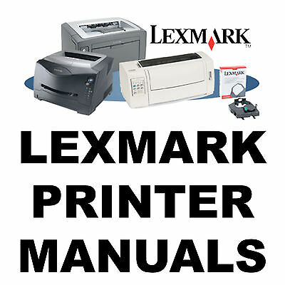 LEXMARK Printer SERVICE MANUALS & Parts Catalogs Laser Optra MFC Manual on a CD