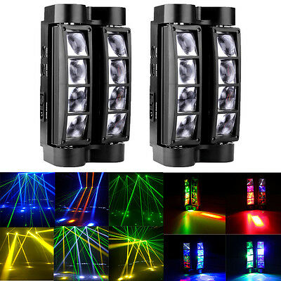 2PCS 80W RGBW 4in1 LED Spider Beam Moving Head Stage Lighting Disco Party Lights