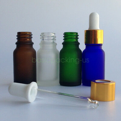 5ml 10ml 30ml Frosted Glass Empty Essential Oil Dropper Bottles Vials Containers