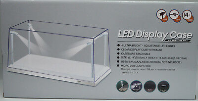 Display Cabinet with LED Lighting White Ground for E.G. Model Cars