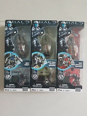 Mega Bloks Halo Authentic Collector's Series ODST 3-Pack New & Unopened