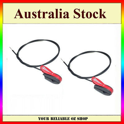 2X Lawn Mower Throttle Control For Plastic Coated Cable Victa Masport Rover