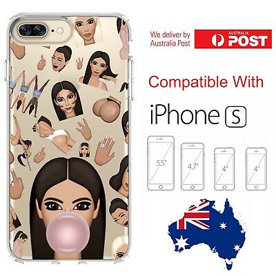 iPhone Silicone Cover Case Kim Kardashian K Kimoji Emoji Gum Swag - Customlads