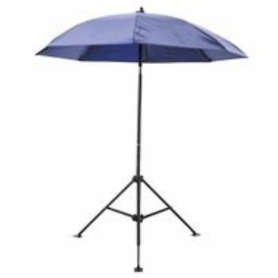 "Heavy Duty Umbrella, Blue Vinyl, 7' diameter x 6 1/2"" height, Sold as 1 EA"