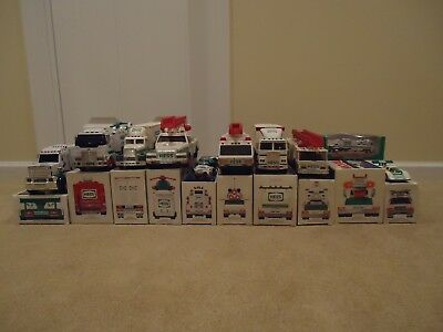 22 pcs Hess Trucks 10 NIB + loose pcs etc 1988 - 2013
