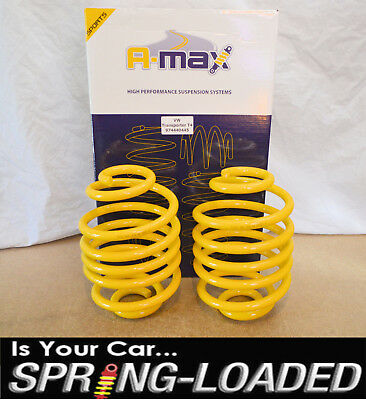 A-MAX Rear Lowering Springs for Volkswagen VW Transporter T4 1990-2003 -50mm