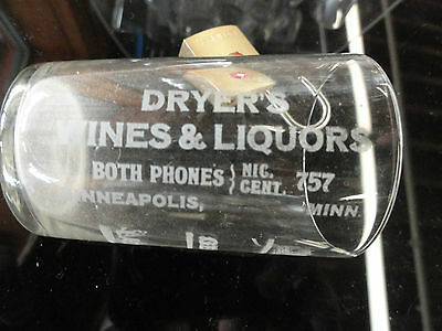 "Old ""Dryer's Wnes & Liquors, Minneapolis"" Shot Glass"