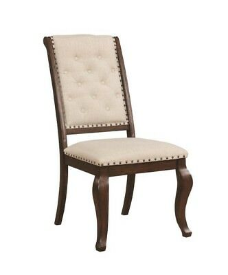 Antique Java Brown Dining Side Chair with Nail Head Trim 107982 - Set of 2
