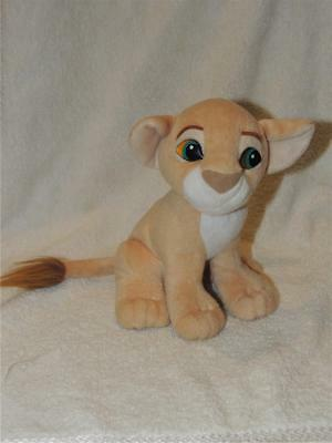 "1993 Nala Authentic Disney Lion King Kissing Plush with Magnetic Nose 7"" Vintage"