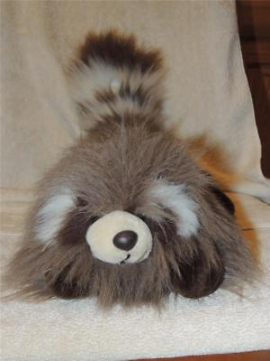 1989 Lush Plush Raccoon Commonwealth Floppy Soft Made in Korea Stuffed