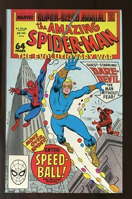 AMAZING SPIDER-MAN SUPER-SIZED ANNUAL #22 NEAR MINT- 1st SPEED-BALL 1988 MARVEL