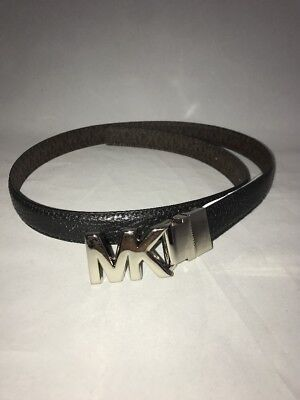 Michael Kors Women's Reversible Black Brown Leather Belt Size Small New