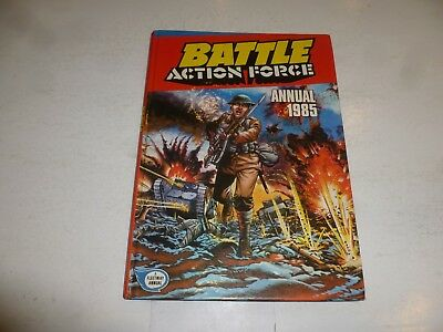 BATTLE ACTION FORCE Comic Annual - Date 1985 - UK Fleetway Annual