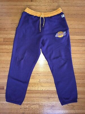 "1990s VINTAGE LOS ANGELES LA LAKERS L SWEATPANTS ""THE GAME"" PURPLE HAT CAP 1980s"