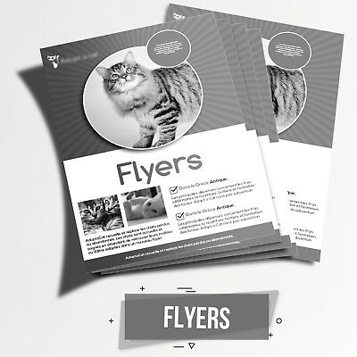 "Print Custom Black & White Flyers  - 1000 - Single Sided - 8.5"" X 11"""