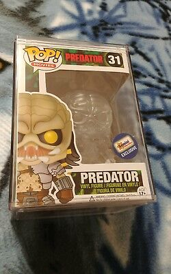 Predator (Clear) (Gemini Collectibles) Funko Pop With Pop Protector