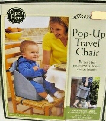 Eddie Bauer Pop Up Booster Seat High Chair Travel Holds Up To 30lbs Baby Gear Baby