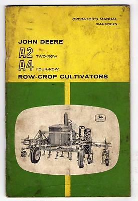 John Deere Operator's Manual Om-N97512N A2 A4 Row Crop Cultivators 44 Pages