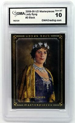 Lady Byng  Graded 10 2008-09 UD Masterpieces Brown #03 Hockey Base Card