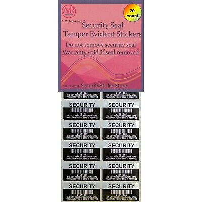 Warranty Void If Removed Security label sticker: INDIVIDUAL SERIAL NUMBERED