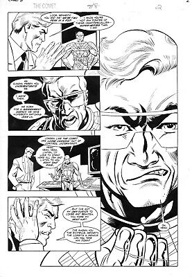 THE COMET #8 (DC Impact)-Page 2 original art by Tom Lyle & Kupperberg-11 x 17