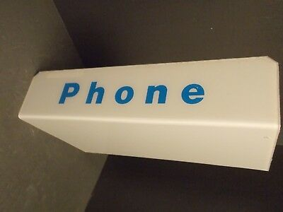 "NOS Vintage Plastic Bell Telephone Booth Sign Pay Phone~17¼"" x 9""x 4"""