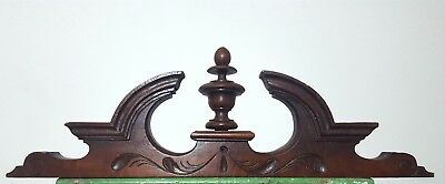 Carved Wood Pediment Antique French Gothic Post Finial Architectural Salvage