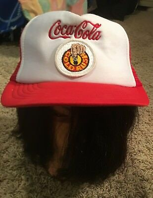 "Vintage Coca Cola Trucker Hat - Red ""Gold Rush"""