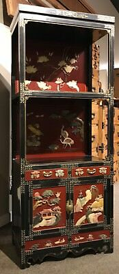 Korean Lacquer Cabinet With Inlay.