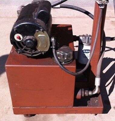 HYDRAULIC POWER UNIT PLANS - 1H.P. Electric Homemade Power Unit