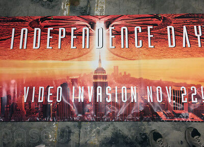 INDEPENDENCE DAY/ID4 (1994) - Original Video Store Banner - UNUSED!