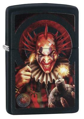 Zippo Anne Stokes Sinister Clown With Ticking Time Bomb Lighter 29574 New In Box