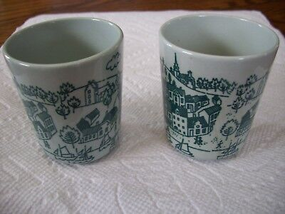 Set of 2 Nymolle Art Faience Demitasse Cup Hoyrup Mid Century Danish 4006